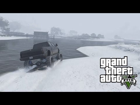 GTA 5 - Mudding in The Snow Covered Mud