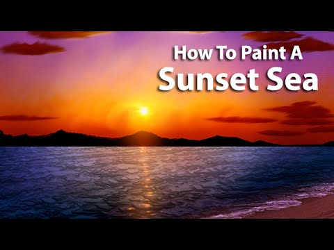 Sunset Seascape - Digital Painting Tutorial (Painter 2015)