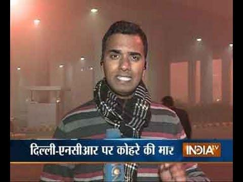 Dense fog hits flight operations at Delhi airport