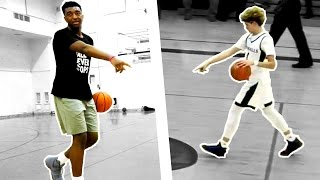 Kyree Walker is LaMelo Jr! Impersonates LaMelo Ball's Halfcourt Shot in Practice! Hits #FirstTry