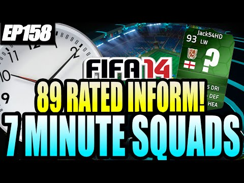 Fifa 14 Ultimate Team | 7 Minute Squads #ep158 - 89 Rated Inform! video