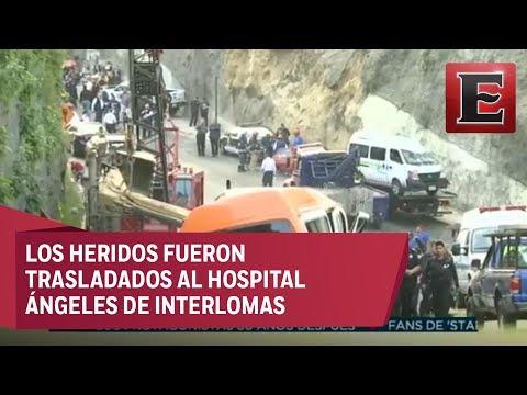 Accidente de grúa deja dos muertos en Huixquilucan