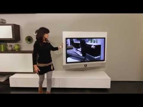 """Mobile porta tv """"RACK EVO"""" - il primo porta tv orientabile con sistema audio integrato"""