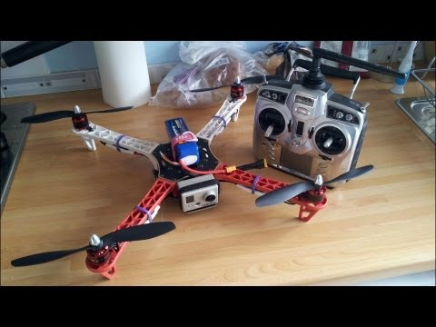 DJI NAZA F450 QUADCOPTER 1ST TEST AFTER BUILD & SETUP