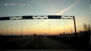 AMAZING Meteor in Russia 15/02/2013 Russian Meteorite Shower