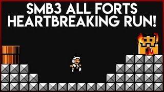 Super Mario Bros. 3 Heartbreak All Forts run!  Solid Run