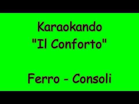 Karaoke Duetti  - Il Conforto - Tiziano Ferro - Carmen Consoli ( Testo )