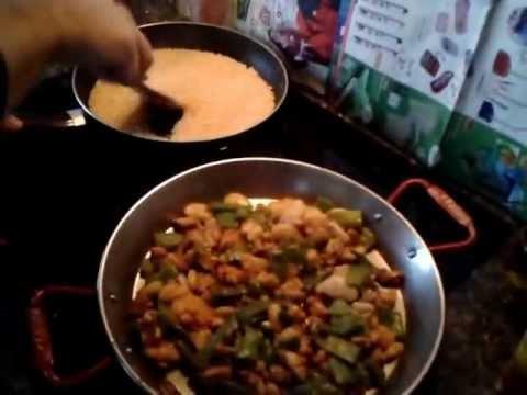 Paella valenciana al horno como hacer paella en vitrocer mica youtube - Como cocinar paella ...