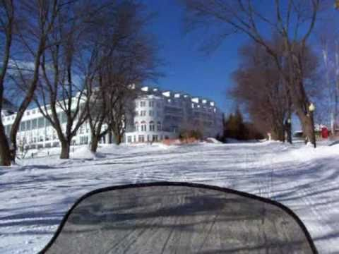Mackinac Island in the Winter, by Snowmobiles across the Ice Bridge, 2009