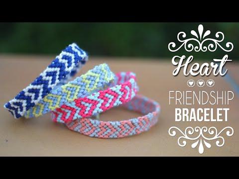 Diy Tuto Bracelet Bresilien Coeur Heart Friendship Bracelets English Subs Youtube