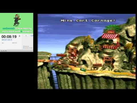Donkey Kong Country - 101% - No diddy in 1:13:39 (beta category)