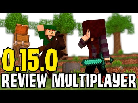 MINECRAFT POCKET EDITION 0.15.0 - REVIEWS REALMS / MULTIPLAYER (Ft Robin Hood) MCPE - MINECRAFT PE