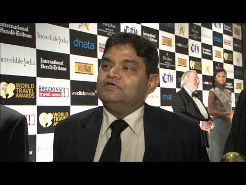 Shri Nalin Shingal, director tourism & marketing, Maharaja's Express, India, at World Travel Awards