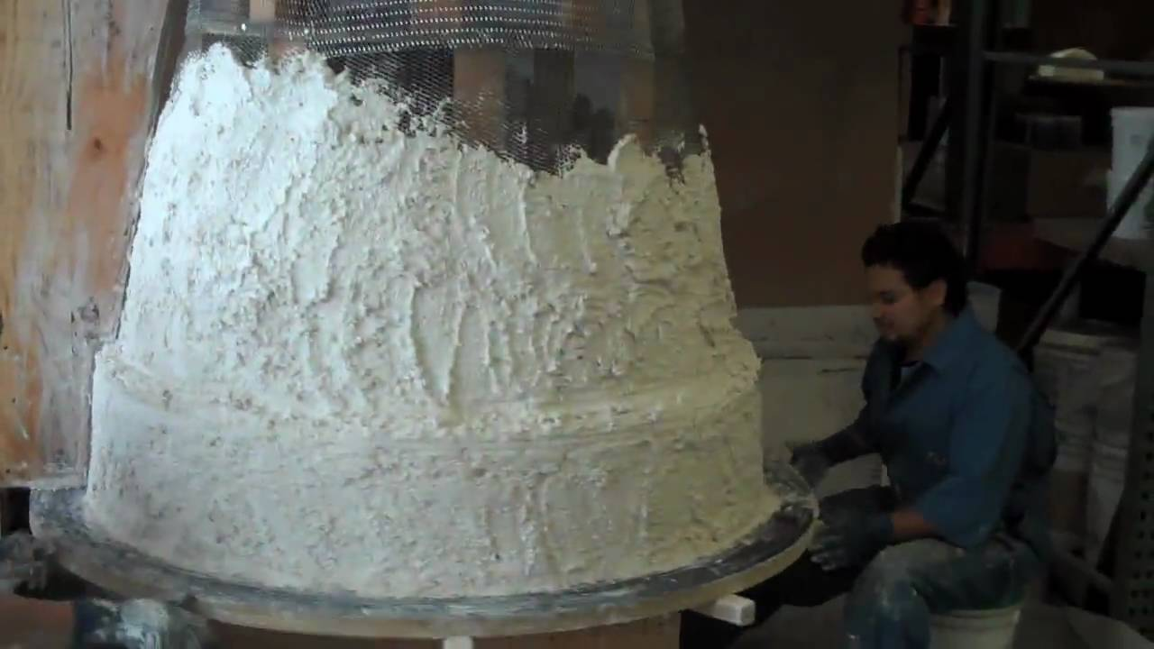 Plaster spin for a large concrete planter youtube - Casting concrete planters ...