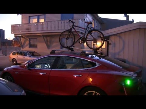 Energy consumption with bike on the roof
