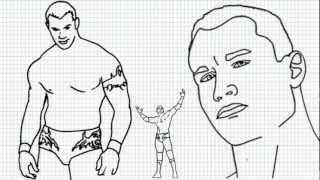 Randy Orton - How to draw Randy Orton - Video - Randy Orton from WWE