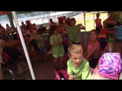 Singing happy birthday to Sydney at camp