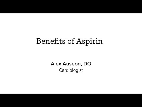 The Benefits of Aspirin: Ohio State Cardiologist Alex Auseon, DO
