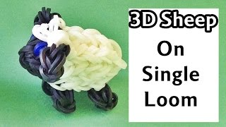 One Loom Rainbow Loom Charms 3D Sheep | loom bands animals