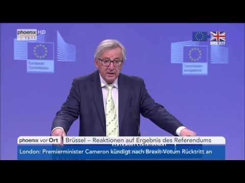 Brexit: Statement von Jean-Claude Juncker am 24.06.2016