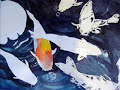 How to Paint Koi Fish with Watercolor by Lori Andrews - Koi Story