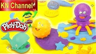 Đồ chơi trẻ em Bé Na nặn đất sét Play-doh with Ocean Molds and Creative Kids toys động vật biển