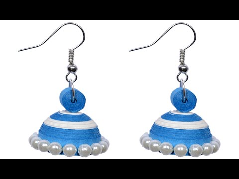 Quilling Paper Earrings Making Video Paper Quilling Ear Ring Jhumka