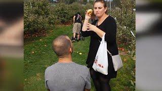 Woman Thinks Boyfriend's Apple Orchard Proposal is a Joke: 'Are You Lying?