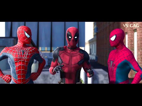 Spider-man: Homecoming VS AMAZING SPIDERMAN ft Deadpool (parody) thumbnail