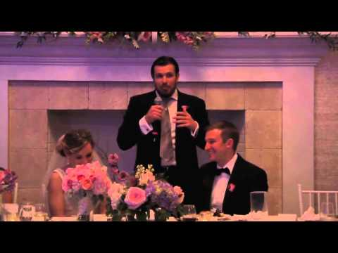 Best man toast - tells very private story to the whole room!!