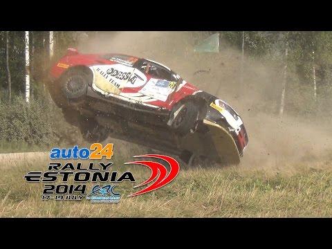 ERC Auto24 Rally Estonia 2014 (action,crashes)