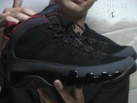 #28 Air Jordan 9 Charcoal/Red September 2010 Video