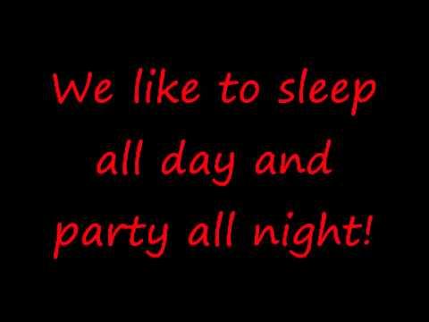 Lyrics Sean Kingston  Party All Night Sleep All Day
