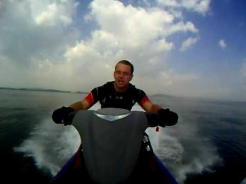 Yamaha FX High Output Cruiser run at Swansea Bay filmed with Go Pro Wide 23/06/09
