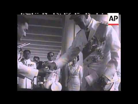 KING AND QUEEN OF DENMARK IN BANGKOK - NO SOUND