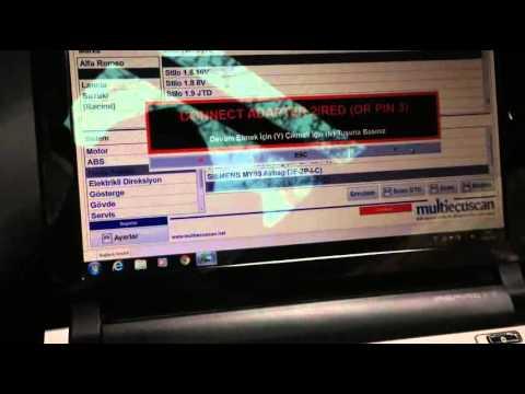 Fiat Multiecuscan Vagcom kablo ile Motor.ABS ve Hava yastıklarına bağlanma