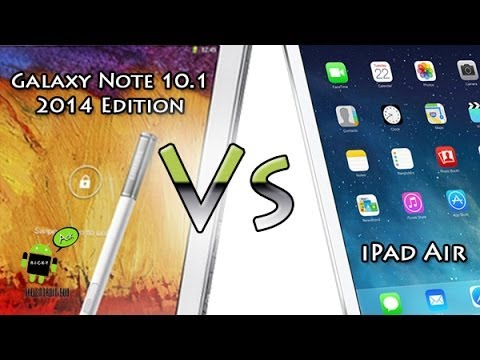 Note 10.1 (2014 Edition) vs iPad Air (Best Tablet of 2013)