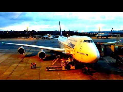 Lufthansa Boeing 747-8 full flight São Paulo to Frankfurt