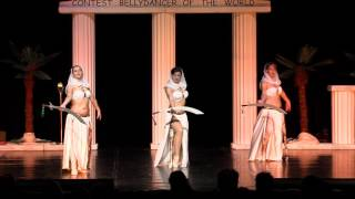 "Bellydancer of the world Duisburg 2016  first place - fantasy Group ""Sentinels """
