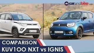 Maruti Suzuki Ignis vs Mahindra KUV100 NXT Comparison Review | NDTV carandbike