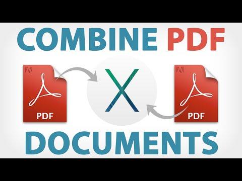 Merge PDF Documents Free in Preview Mac El Capitan