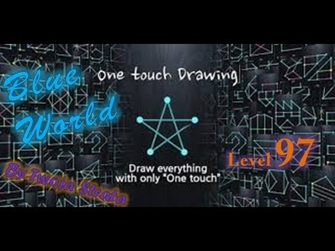 One Touch Drawing Level 97 Blue World