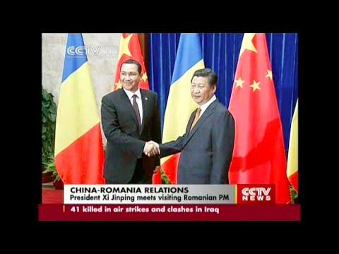Chinese President Xi Jinping meets Romanian PM