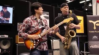 download lagu Amazing Guitar And Sax Duet At Namm 2014 - gratis