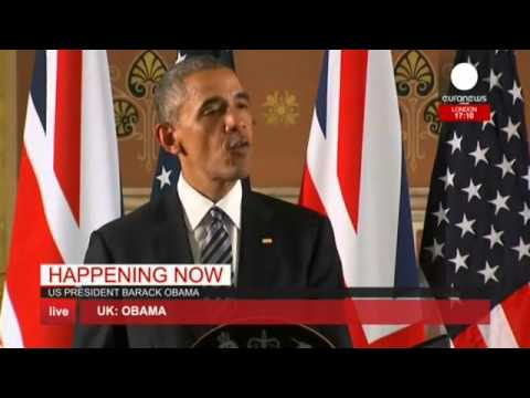 """Kindred spirits"" Obama & Cameron hold joint press conference, London"