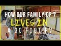 How to live in an RV with a big family