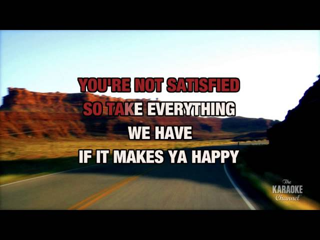 """Sticks And Stones in the Style of """"Tracy Lawrence"""" with lyrics (no lead vocal)"""