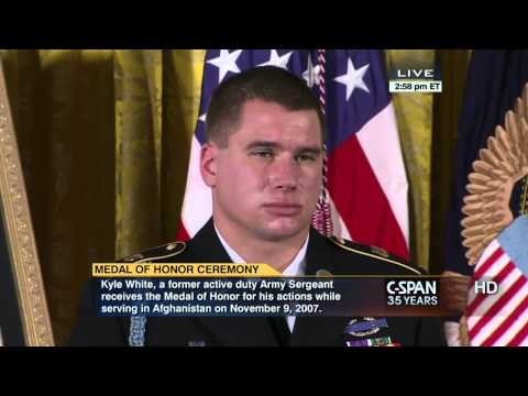 President Obama awards Medal of Honor to former Army Sergeant Kyle White the