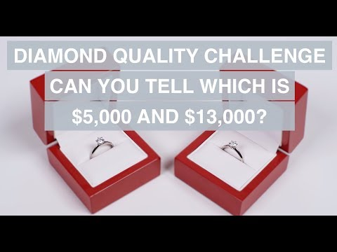 Diamond Quality Challenge - Who can Tell the Difference Between $5000 and $13000 Diamond