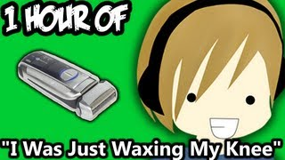 "1 Hour Of ""I Was Just Waxing My Knee"" - PewDiePie"